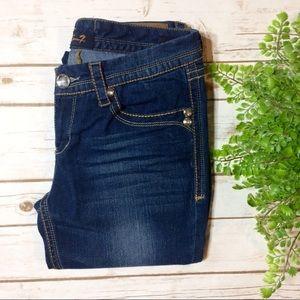 Seven7 Gemstone Dark Wash Flare Jeans