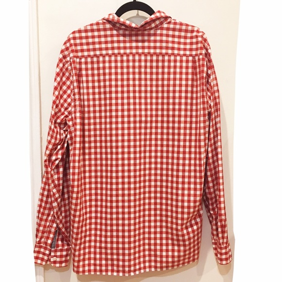 Lacoste Men 39 S Lacoste Red Gingham Check Button Down