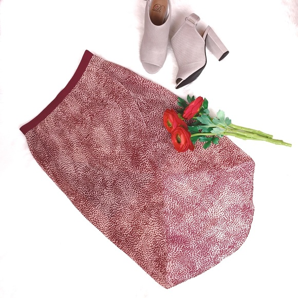Skirt And Blouse Set By Roseline Dresses On Icraftgifts Com: Maroon & Beige Hi-low Tulip Wrap Skirt From