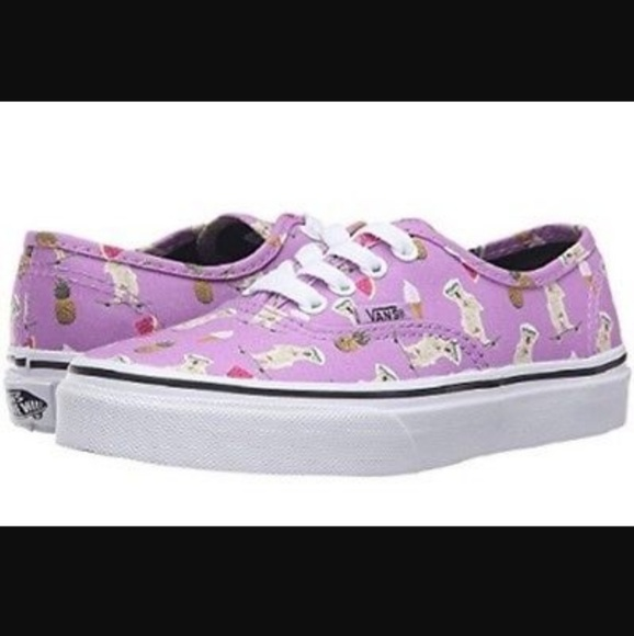 9d4f7b6209 Vans Pool Vibe Purple Dog Sneakers. M 59605a2499086a836d0216c6
