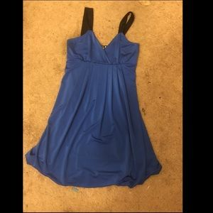 Royal blue bubble mini dress