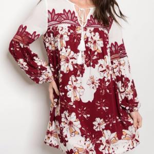Dresses & Skirts - Floral print tunic Dress
