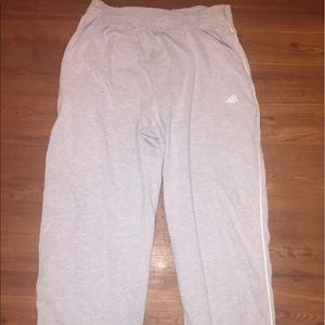 Adidas Fleece track pants gray XL Men's