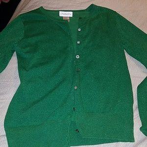 Green Shimmery Cardigan