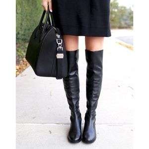 Stuart Weitzman Black 50/50 over-the-knee Boots