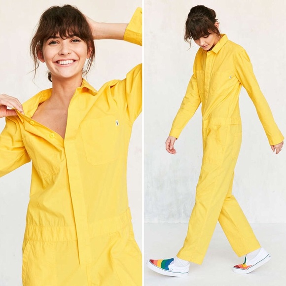 31d2e615b37d Urban Outfitters X Vans Collab Yellow Jumpsuit New