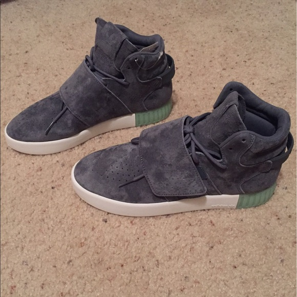 adidas Shoes   Tubular Invader Strap Glow In The Dark   Poshmark 11fdad6ac238