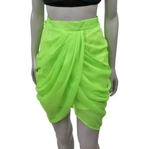 Finders Keepers Take U Away Draped Pleated Skirt