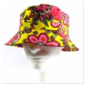 Yellow and Pink Floral Bucket Hat