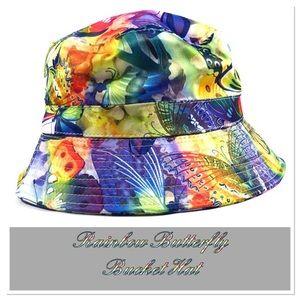 Rainbow Butterfly Bucket Hat