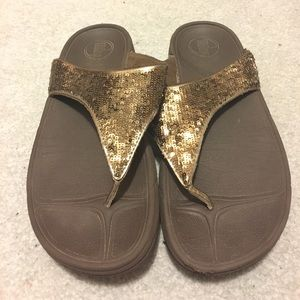 Bronze Sequins Thong FitFlop