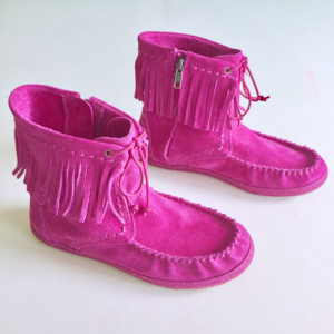 UGG Suede Leather Ankle Boots Fringe Moccasins