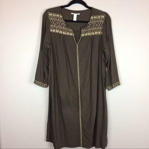 Lucky Brand Studded brown dress