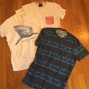 Other - 3-pack men's tshirts (Abercrombie, Hollister)