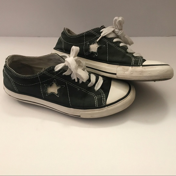 e3be3892f963 Converse Shoes - Converse One Star Dark Green and White