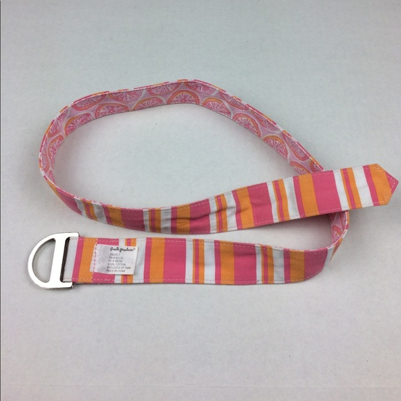 Fresh Produce Accessories - Fresh Produce fruit and striped print fabric belt