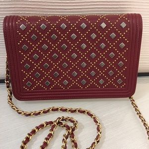 42f614c10baf CHANEL Bags - 💥SOLD💥 Chanel Boy Studded WOC in Burgundy