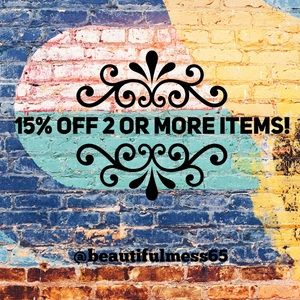 15% discount on 2 or more items!