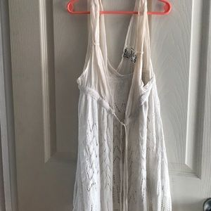 Guess crochet vest with tie front