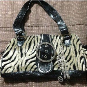 Zebra Fur purse Ecko Red