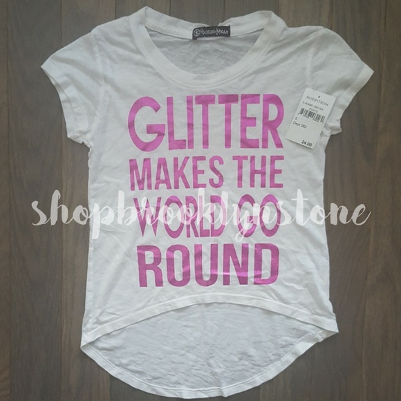 0728a2d1 Recycled Karma Tops | Nwt Glitter Makes The World Go Round T Shirt ...
