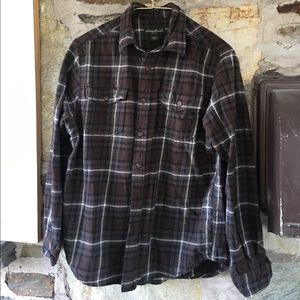 Eddie Bauer Men's Brown Flannel. Sz medium