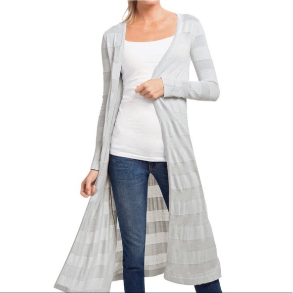 CAbi Sweaters - Cabi gray long length duster cardigan