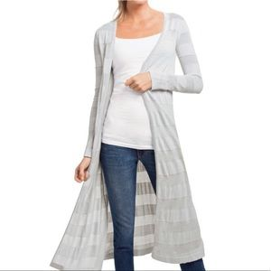 Cabi gray long length duster cardigan