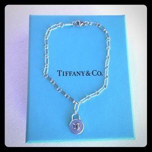 Tiffany Silver Oval Link Lock Bracelet