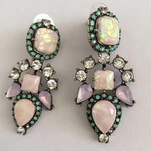 Baublebar iridescent Aztec  drop earrings