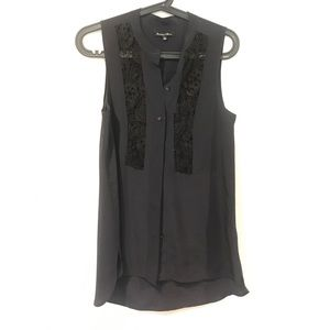 Broadway Broome Madewell silk and lace shell top