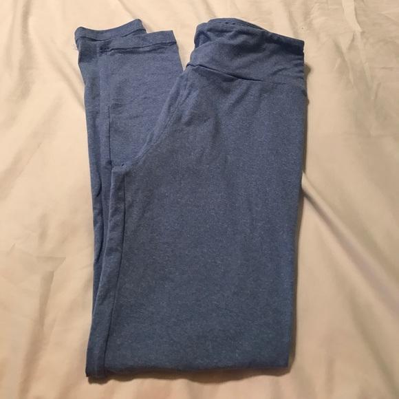 12% off LuLaRoe Pants - LulaRoe heathered blue one size leggings. from Elizabethu0026#39;s closet on ...