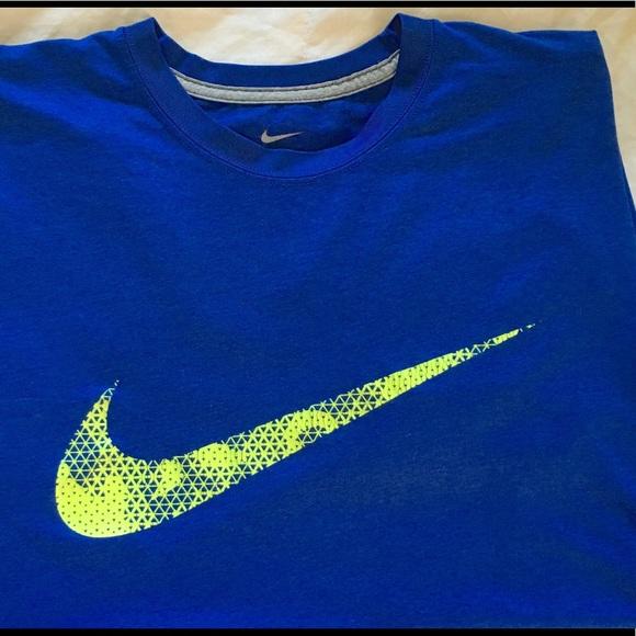 9cf2d060c Nike Shirts | Mens Drifit Royal Blueneon Green Tshirt L | Poshmark