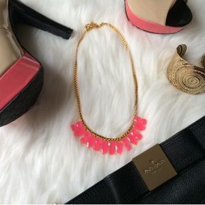 Fun Kate Spade Pink Short Marquee Necklace