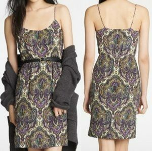 J.Crew Silk Purple Paisley Dress