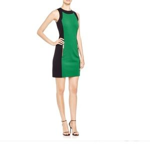 Michael Kors color block green dress