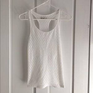 Abercrombie white lace tank top