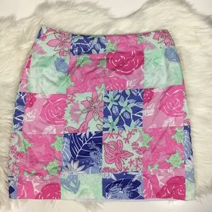 Lilly Pulitzer patchwork skirt frog turtle rabbit