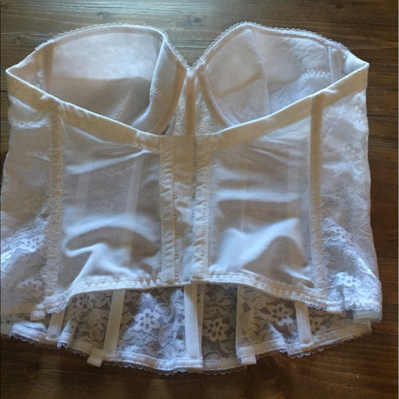 33 off dominique other white lace corset perfect under for White corset under wedding dress