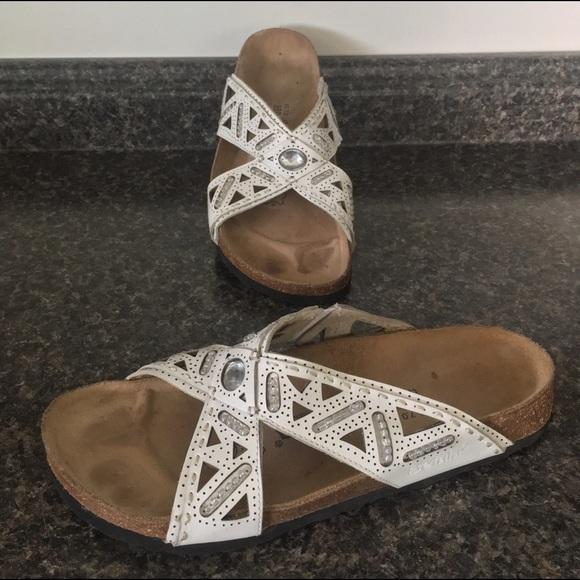 f69f3676de91df Birkenstock Shoes - BIRKENSTOCKS Betula Beaded Jeweled Cut Out Slides