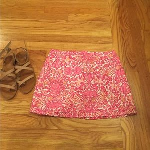 Lilly Pulitzer, Hot Pink Mini Skirt (00)