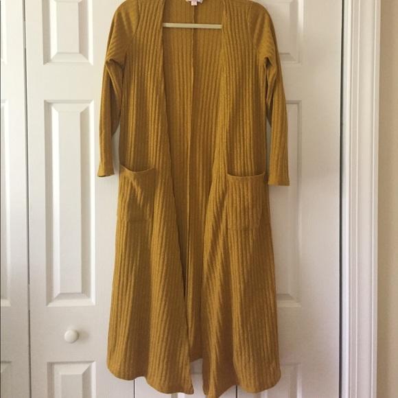 43% off LuLaRoe Sweaters - LuLaRoe Mustard Sarah Duster Cardigan ...