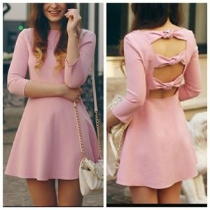 Zara pink knot bow dress
