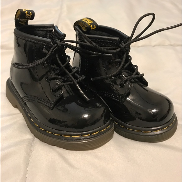 806f4f6adbcdd Dr. Martens Shoes | Dr Martens Toddler Brooklee Patent Boot | Poshmark