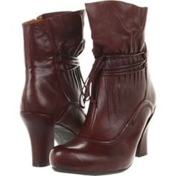 Earthies Shoes - Bitter Wine Earthies Eleganza Zip Up Womens Boots