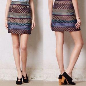 <Maeve> Anthropologie Audra Pencil Skirt Geometric