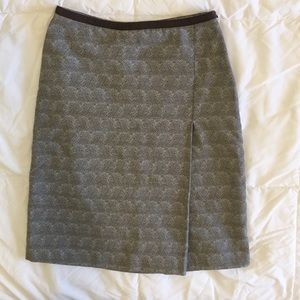 Banana Republic cotton blend brown mini skirt