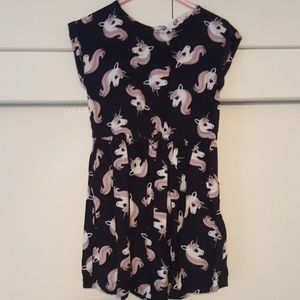 H&M Dresses - 2-3 years H&M Girls Black and Pink Unicorn Dress!