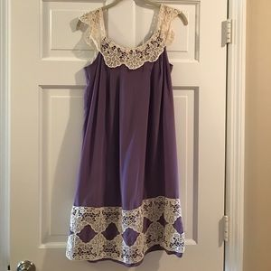 Milly Lavender Dress with Lace