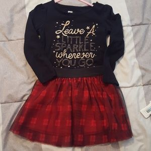 4T Tutu and Black shirt set from Macy's